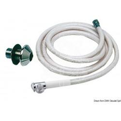 Douchette à bouton blanche tuyau PVC 2,5 m