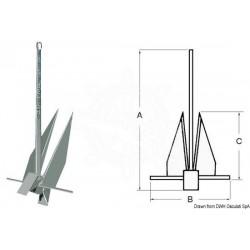 Ancre Danforth, modèle original 19,4 kg