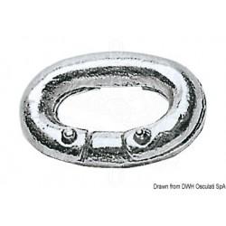 Maillon à river acier galvanisé 10 mm
