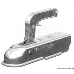 Crochet carré pour remorque 50 mm 1300 kg