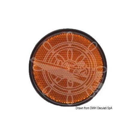 Catadioptre orange adhésif 60 mm