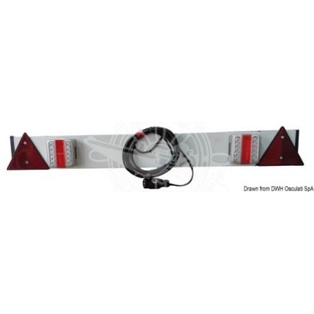 Barre en plastique avec feux à LED 120 cm