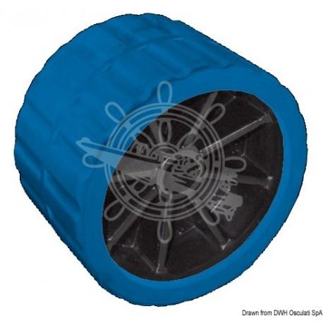 Roue latérale bleu 75 mm Ø trou 15 mm