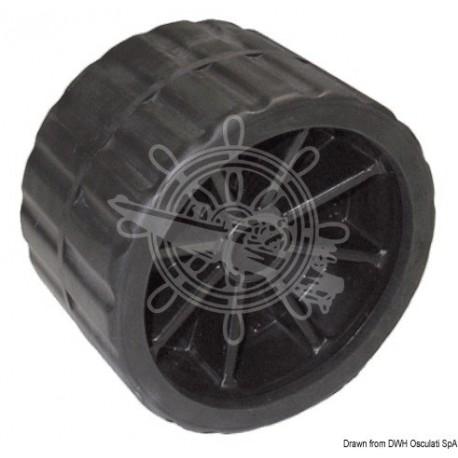 Roue latérale noir 75 mm Ø trou 15 mm