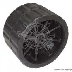 Roue latérale noir 75 mm Ø trou 17 mm