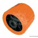 Roue latérale orange 75 mm Ø trou 15 mm