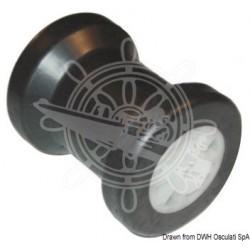 Rouleau central en PVC Ø trou 14 mm