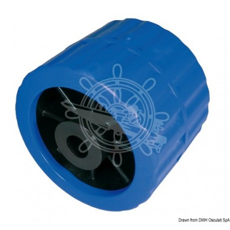 Roue latérale bleu Ø trou 15 mm