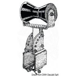 Central soutien-quille tube carré 80 x 80 mm