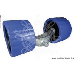 Etrier pour roues latérales fixes bleues