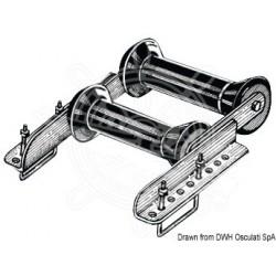 Rouleau double pivotant arrière 60 mm