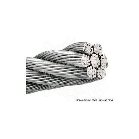 Câble inox AISI 316 133 fils 7 mm