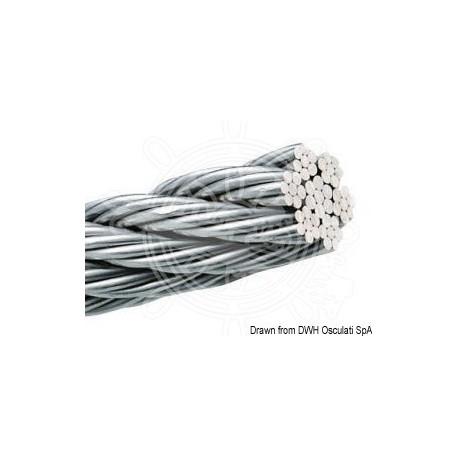 Câble inox AISI 316 49 fils 2,5 mm