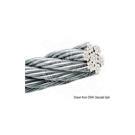 Câble inox AISI 316 49 fils 3 mm