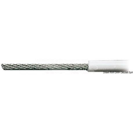 Câble inox AISI 316 19 fils recouvert PVC 3 x 6 mm