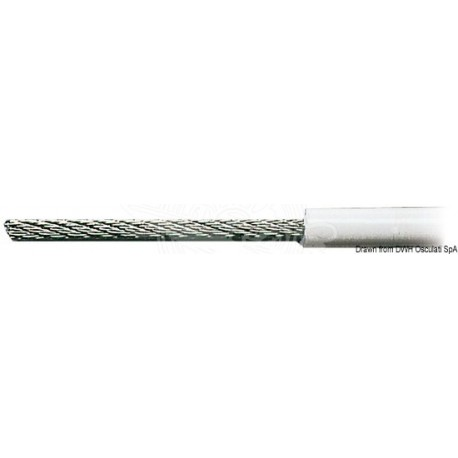 Câble inox AISI 316 19 fils recouvert PVC 4 x 8 mm