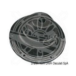 Soufflet en caoutchouc avec frette en ABS 140 mm