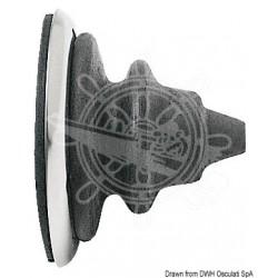 Bague passe-câbles inox avec sufflet Dutral gris