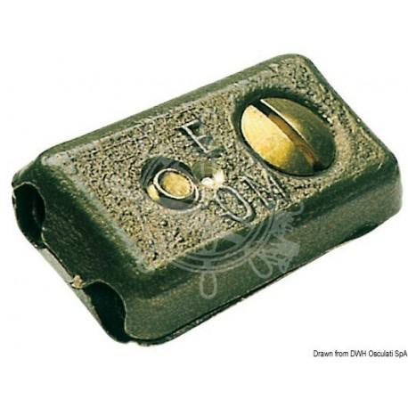 Serre-câble en laiton p. deux câbles 3,5/5,5 mm