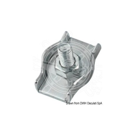 Serre-câble inox simple 4 mm