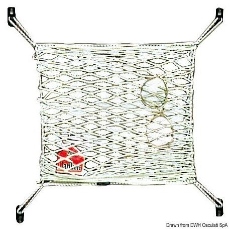 Filet élastique en nylon porte-objets 300 x 200 mm
