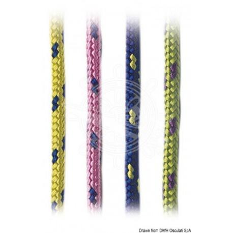 Tresse polypropylène couleurs vives jaune 2 mm