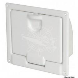 Coqueron ABS blanc poli 220 x 195 x 70 mm