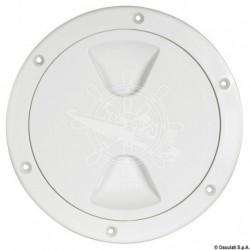Bouchon inspection blanc fermeture à vis 152 mm