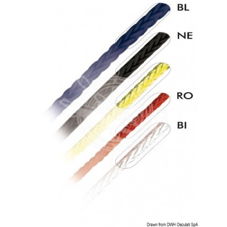 Tresse blanche Marlow Excel D12 4 mm