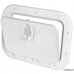Trappe inspect façade amovible gris 350 x 600 mm