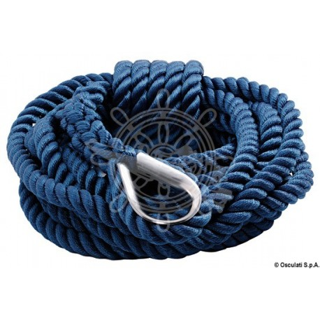 Ligne amarrage bleu 24 mm x 15 m