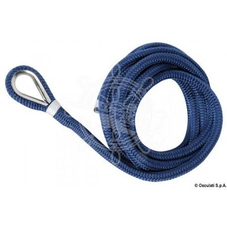 Ligne amarrage bleu avec épissure 16 mm x 11 m