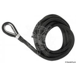 Ligne amarrage noir avec épissure 16 mm x 11 m