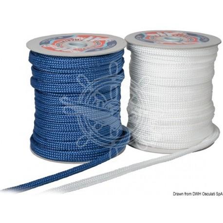Tresse plate bleue pare-battage 18 mm x 50 m