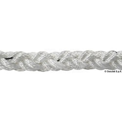 Tresse Square Line blanc 14 mm