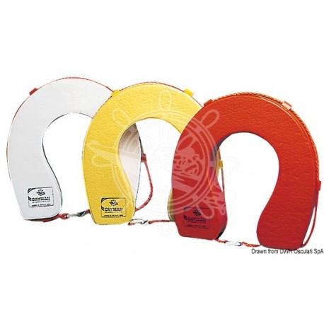 Bouée fer-à-cheval PVC blanc