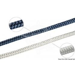 Double tresse bleue 12 mm