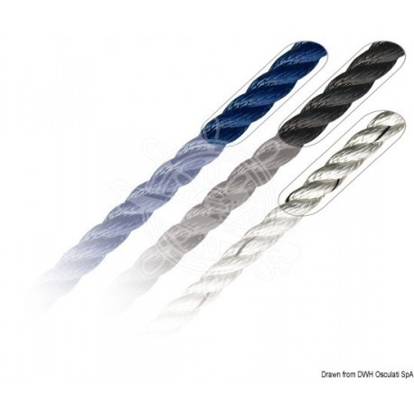 Bout amarrage Marlow en polyester bleu 6 mm