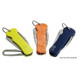 Couteau voile inox poignée en plastique orange