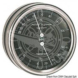 Thermo/Hygromètre Barigo Orion cadran noir