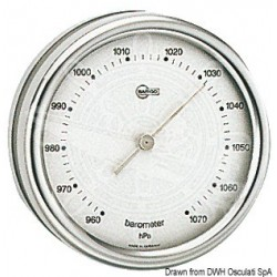 Baromètre Barigo Orion cadran argenté