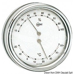 Thermo/Hygromètre Barigo Orion cadran argenté
