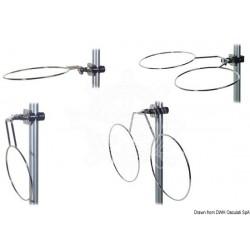 Porte pare-battage double repliable inox 210 mm