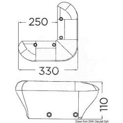 Défense ponton 330 mm bleu