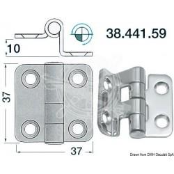 Charnière porte-à-faux 37x37 mm