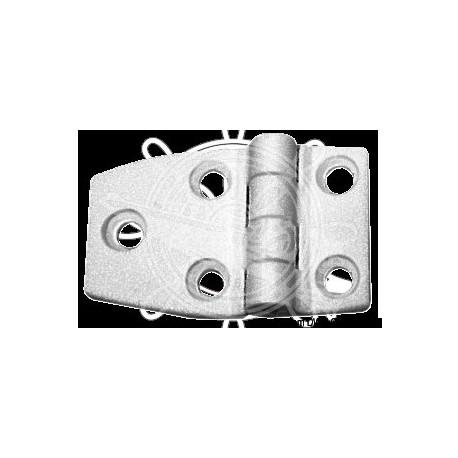 Charnière nylon reinforcé blanc 54x38 mm