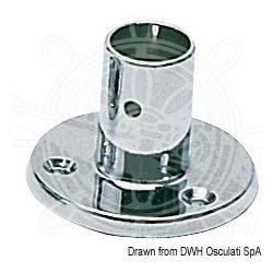 Base et raccord p. balcon droite 22 mm