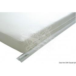 Liston en PVC blanc p. voiles légers barre 4 m