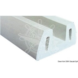 Défence de quai en PVC gris 72x30 mm Découpes de 2m