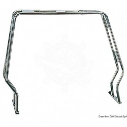 Roll bar inox rabattable p.zodiacs 125-180 cm